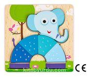 Montessori Ahşap Zeka Oyunları / w-Basic Parts ELEPHANT