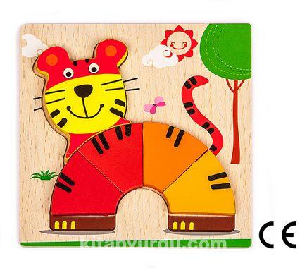 Montessori Ahşap Zeka Oyunları / w-Basic Parts TIGER