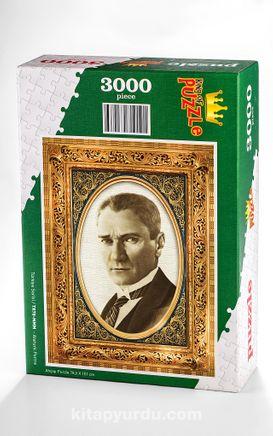 Atatürk Portre Ahşap Puzzle 3000 Parça (TR78-MMM)