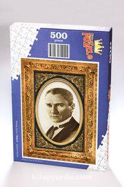 Atatürk Portre Ahşap Puzzle 500 Parça (TR20-D)