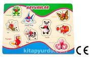 Montessori Ahşap Zeka Oyunları / w-Pin Puzzle - Animals