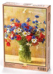 Vazoda Çiçekler Bahçe Çiçek Serisi 1000 Parça (BC07-M)