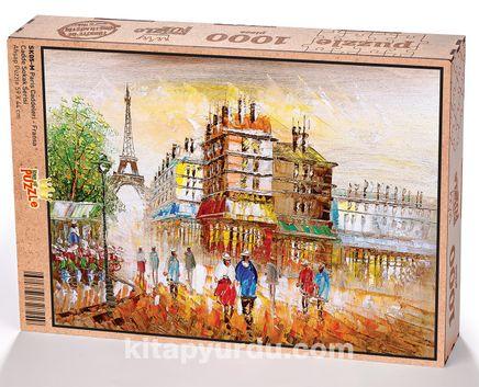 Paris Caddeleri - Fransa Ahşap Puzzle 1000 Parça (SK05-M)