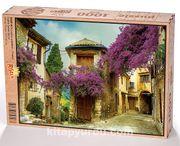 Provence Sokakları - Fransa Ahşap Puzzle 1000 Parça (SK07-M)