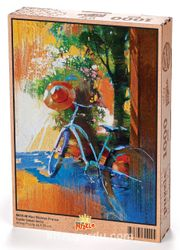 Mavi Bisiklet  Fransa Ahşap Puzzle 1000 Parça (SK11-M)