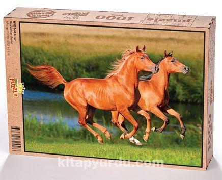 Atlar Ahşap Puzzle 1000 Parça (HV01-M)