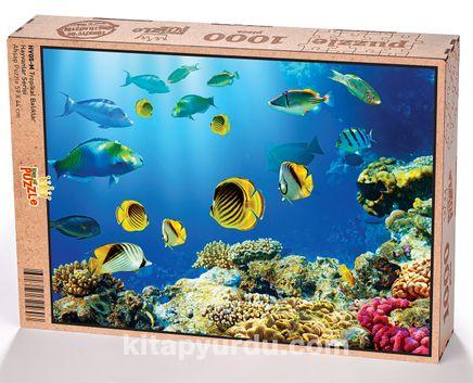 Tropikal Balıklar Ahşap Puzzle 1000 Parça (HV05-M)