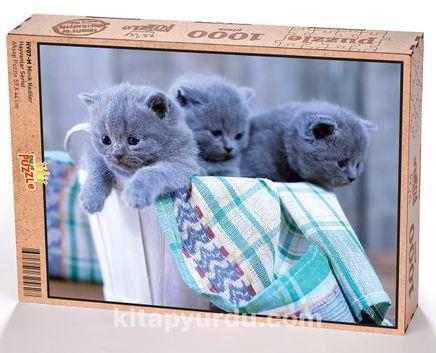 Minik Kediler Ahşap Puzzle 1000 Parça (HV07-M)