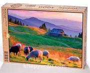 Günbatımı ve Koyunlar Ahşap Puzzle 1000 Parça (HV11-M)