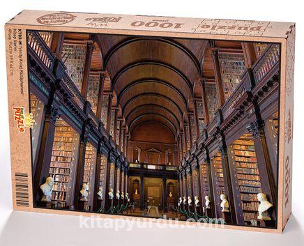 Trinity Kolej Kütüphanesi Ahşap Puzzle 1000 Parça (KT03-M)