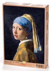 İnci Küpeli Kız - Johannes Vermeer Ahşap Puzzle 1000 Parça (KR01-M)