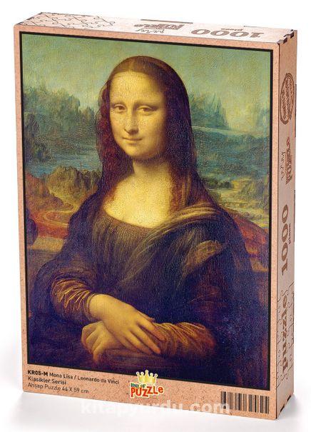 Mona Lisa -  Leonardo da Vinci Ahşap Puzzle 1000 Parça (KR05-M)