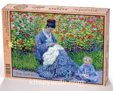 Bayan Monet ve Bir Çocuk - Claude Monet Ahşap Puzzle 1000 Parça (KR09-M)