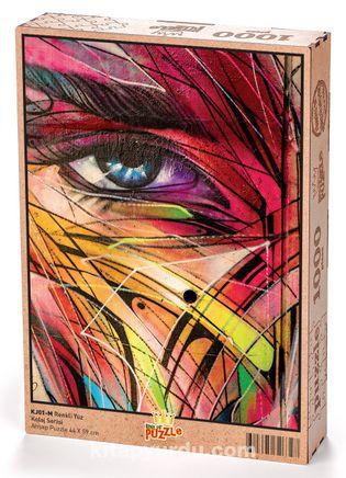 Renkli Yüz Ahşap Puzzle 1000 Parça (KJ01-M)