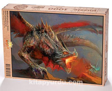 Ejderha ve  Şövalye Ahşap Puzzle 1000 Parça (MF03-M)