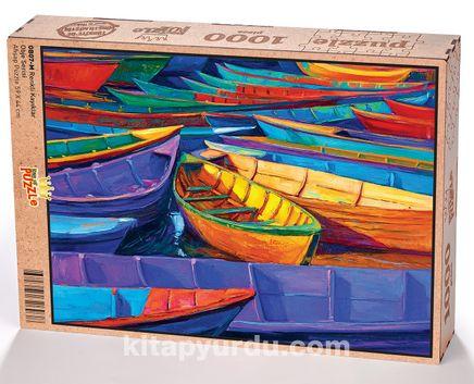 Renkli Kayıklar Ahşap Puzzle 1000 Parça (OB07-M)