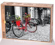 Kırmızı Bisiklet Ahşap Puzzle 1000 Parça (TT03-M)