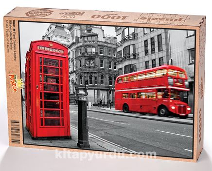 Fleet Caddesi Londra Ahşap Puzzle 1000 Parça (UK01-M)