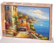 Liman Manzarası Yunanistan Ahşap Puzzle 1000 Parça (UK03-M)