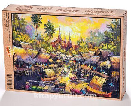 Su Kenarında Yaşam Tayland Ahşap Puzzle 1000 Parça (UK09-M)