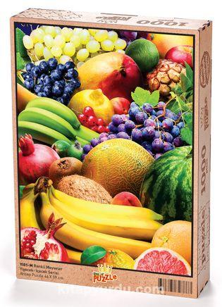 Renkli Meyveler Ahşap Puzzle 1000 Parça (YI01-M)