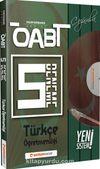 ÖABT Türkçe Öğretmenliği (75 Soruluk) Çözümlü 5 Deneme