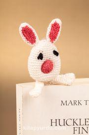 Amigurumi Beyaz Tavşan Kitap Ayracı