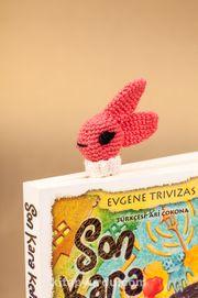 Amigurumi Pembe Tavşan Kitap Ayracı