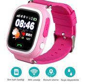 Akıllı Çocuk Saati - GPS Takipli Dokunmatik Ekranlı - TD02 - Pembe