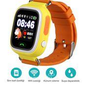 Akıllı Çocuk Saati - GPS Takipli Dokunmatik Ekranlı - TD02 - Sarı