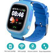 Akıllı Çocuk Saati - GPS Takipli Dokunmatik Ekranlı - TD02 - Mavi
