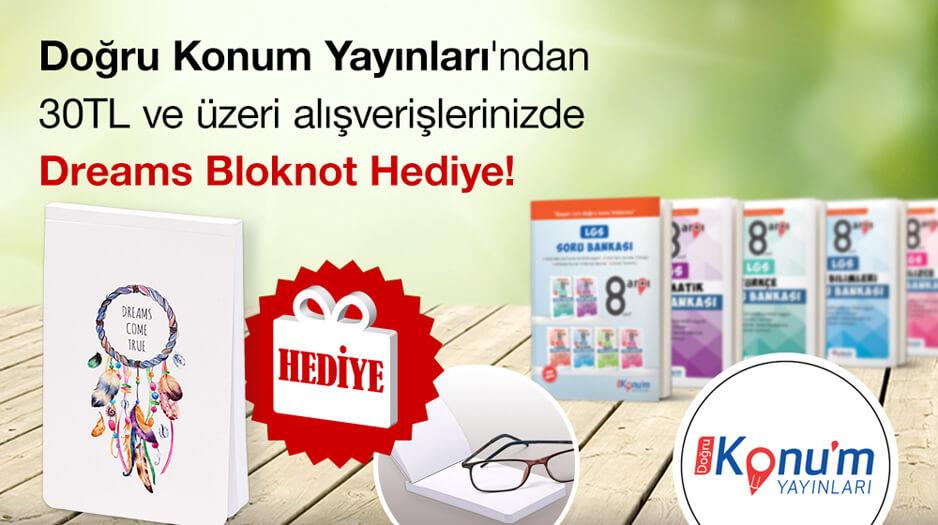 Doğru Konum Yayınları'ndan bloknot Hediye!