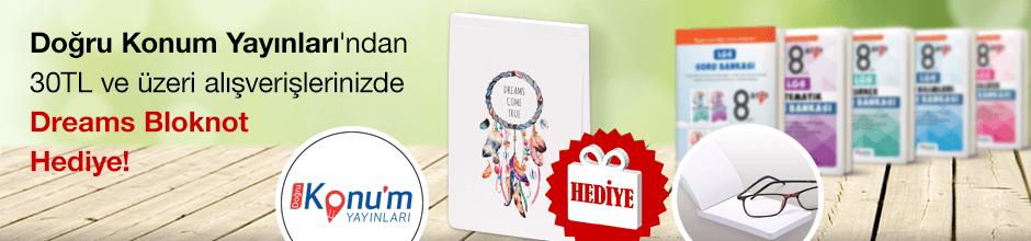 """Doğru Konum Yayınları'ndan 30TL ve Üzeri Alışverişlerinizde """"Dreams Bloknot """" Hediye!"""