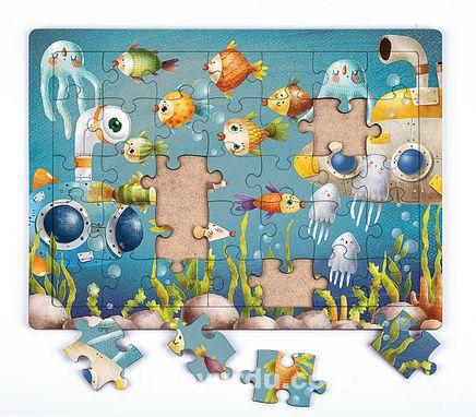 Okyanus Derinleri Ahşap Puzzle 35 Parça (XXXV-19)