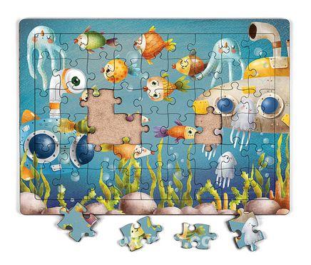 Okyanus Derinleri Ahşap Puzzle 54 Parça (LIV-19)