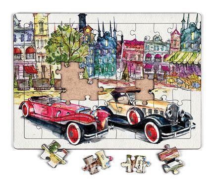 Klasik Arabalar Ahşap Puzzle 54 Parça (LIV-14)