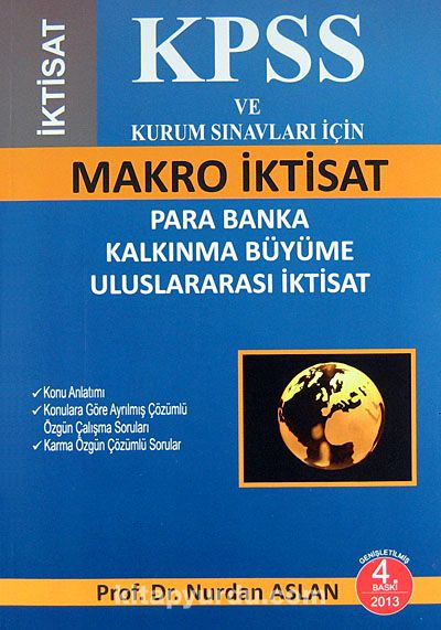 KPSS ve Kurum Sınavları İçin Makro İktisatPara Banka Kalkınma Büyüme Uluslararası İktisat