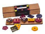 Montessori Ahşap Zeka Oyunları / w-Geometric Five