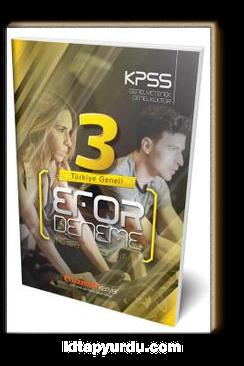KPSS Genel Yetenek Genel Kültür 3'lü Türkiye Geneli Efor Deneme (Tamamı Çözümlü)