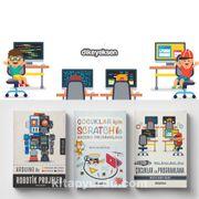 Çocuklar için Scratch ve Kodlama Eğitim Seti (3 Kitap)