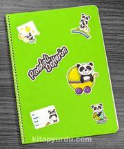 Bookinzi Okul Defteri - A4 Spiralli - Stickerli Pandalı Defterim