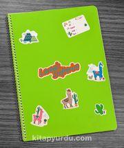 Bookinzi Okul Defteri - A4 Spiralli - Stickerli Lamalı Defterim