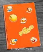 Bookinzi Okul Defteri - A4 Spiralli - Stickerli Emojili Defterim