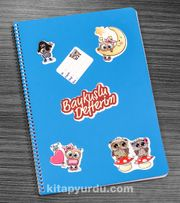 Bookinzi Okul Defteri - A4 Spiralli - Stickerli Baykuşlu Defterim