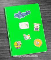 Bookinzi Okul Defteri - A4 Spiralli - Stickerli Ayılı Defterim