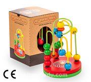 Montessori Ahşap Zeka Oyunları / w-Colorful Beads