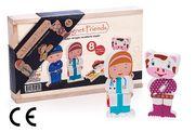 Montessori Ahşap Zeka Oyunları / w-Magnet Friends