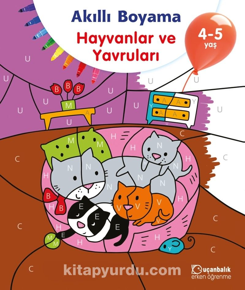 Akilli Boyama Hayvanlar Ve Yavrulari 4 5 Yas Kollektif