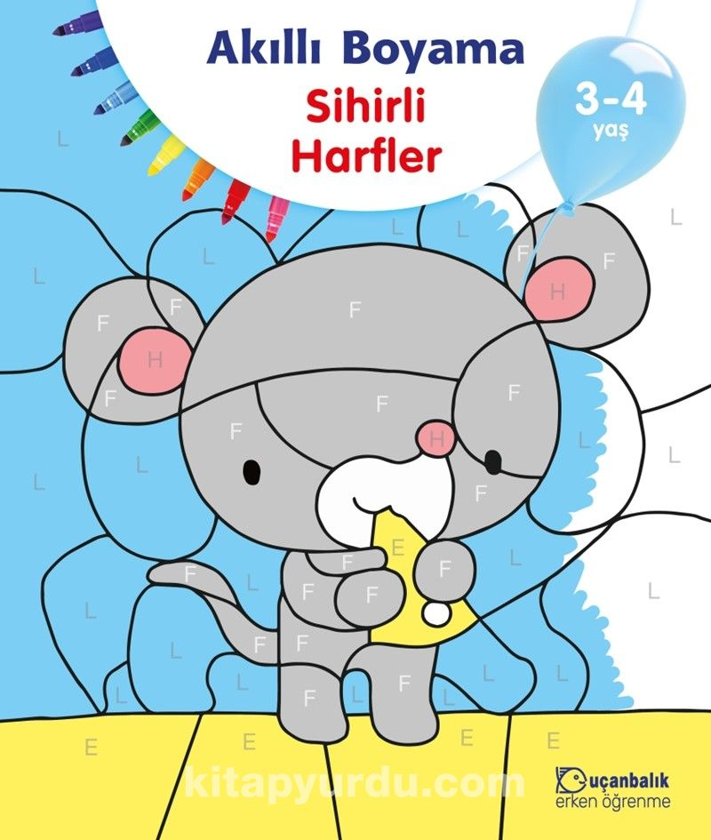 Akilli Boyama Sihirli Harfler 3 4 Yas Kollektif Kitapyurdu Com