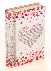Kitap Şeklinde Mıknatıslı Ahşap Akordeon Kutu - Aşkın Dili